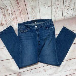 WHBM Blanc Slim ankle jeans size 8R rhinestone